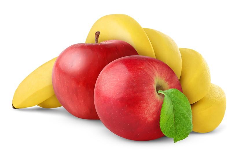 Банан с яблоком
